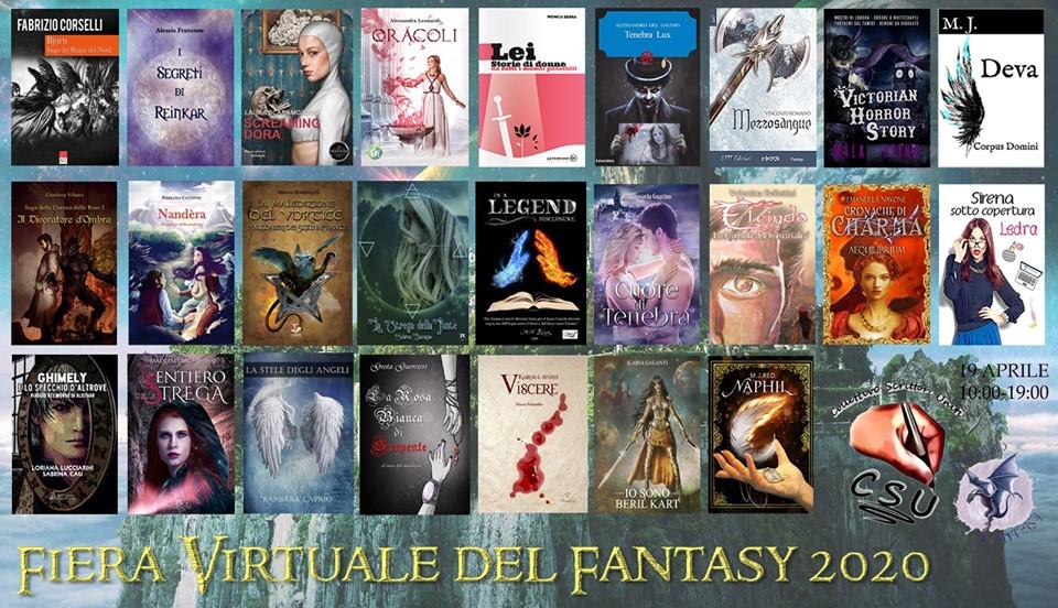 """Locandina """"Fiera virutale del fantasy 2020""""."""